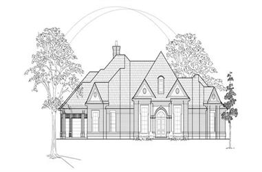 4-Bedroom, 3556 Sq Ft Luxury House Plan - 134-1295 - Front Exterior