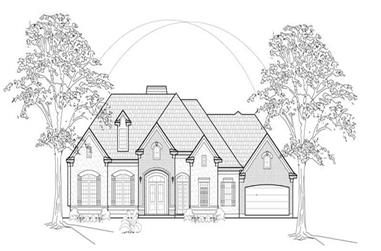 4-Bedroom, 3914 Sq Ft Luxury House Plan - 134-1296 - Front Exterior