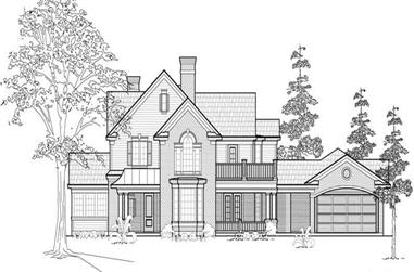 3-Bedroom, 3527 Sq Ft Farmhouse House Plan - 134-1297 - Front Exterior