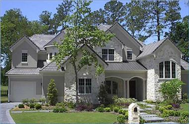 4-Bedroom, 4602 Sq Ft Luxury Home Plan - 134-1298 - Main Exterior