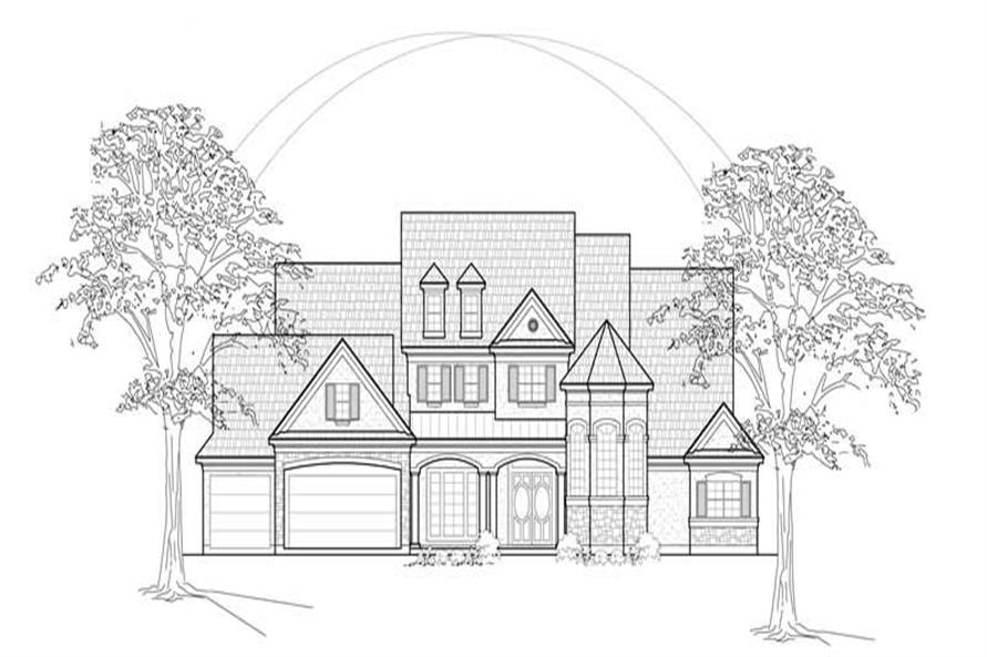 4-Bedroom, 4128 Sq Ft Country House Plan - 134-1300 - Front Exterior