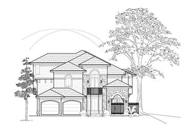 3-Bedroom, 4138 Sq Ft Luxury Home Plan - 134-1301 - Main Exterior