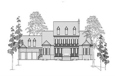 4-Bedroom, 6813 Sq Ft Colonial House Plan - 134-1302 - Front Exterior