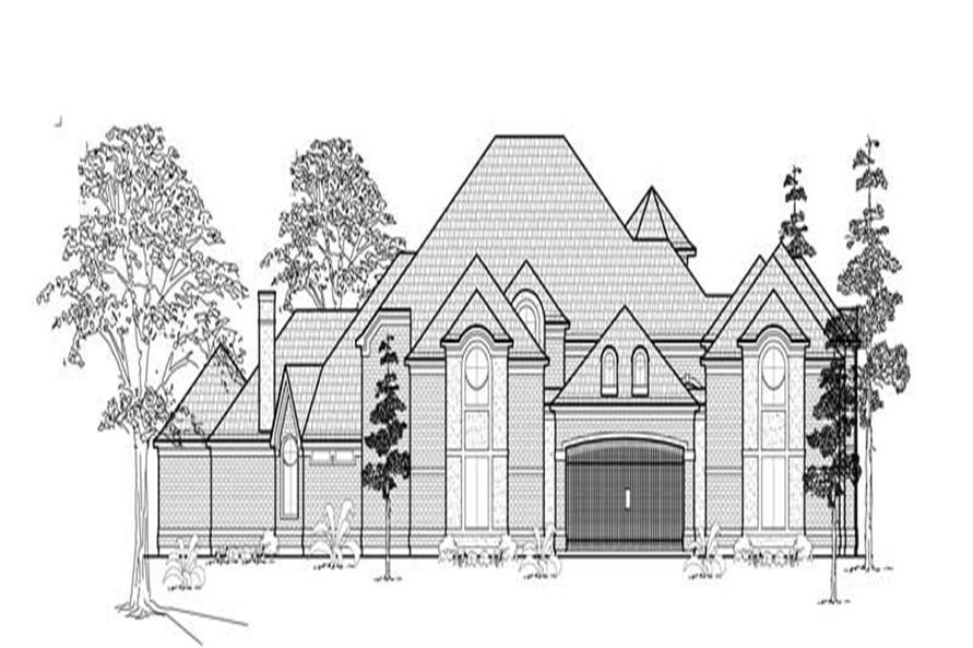 4-Bedroom, 8636 Sq Ft Luxury House Plan - 134-1303 - Front Exterior