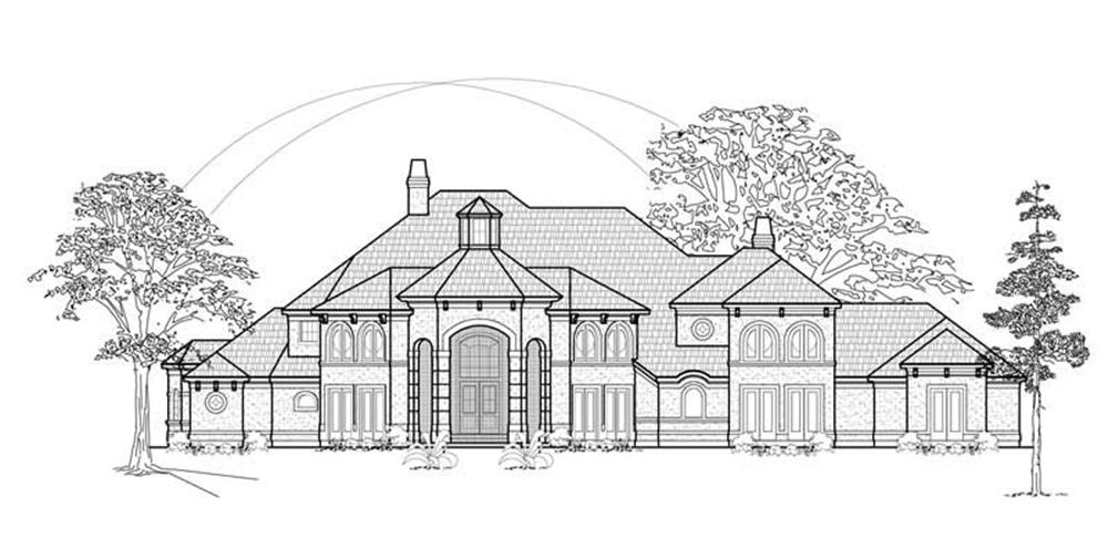 Luxury home (ThePlanCollection: Plan #134-1306)