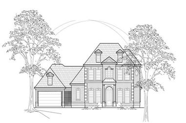 4-Bedroom, 3622 Sq Ft Luxury House Plan - 134-1308 - Front Exterior