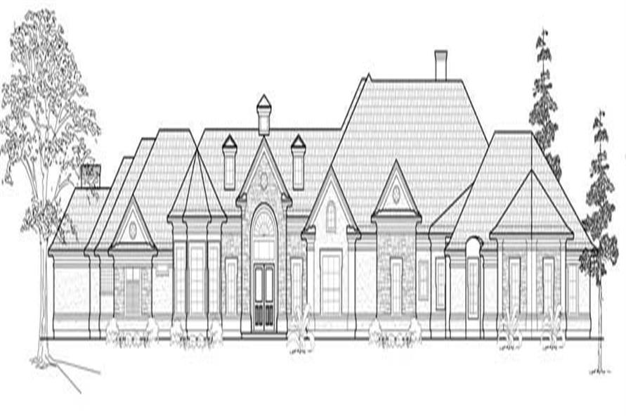 3-Bedroom, 4657 Sq Ft Luxury Home Plan - 134-1309 - Main Exterior