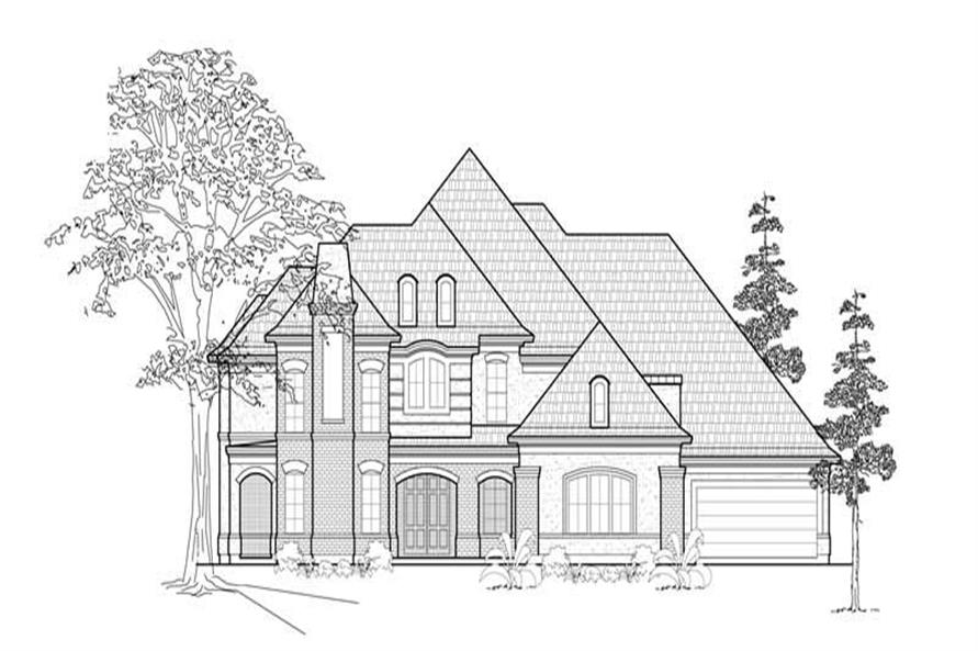 5-Bedroom, 4672 Sq Ft Luxury Home Plan - 134-1310 - Main Exterior
