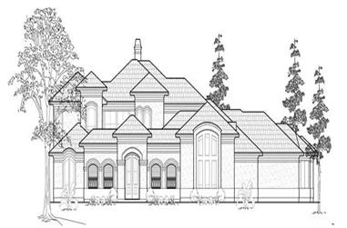 4-Bedroom, 4748 Sq Ft Luxury House Plan - 134-1311 - Front Exterior