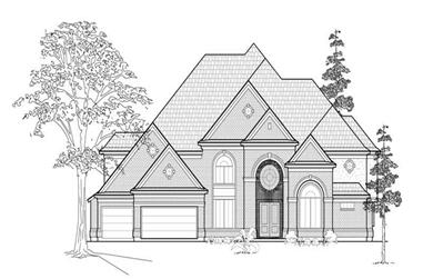 5-Bedroom, 5056 Sq Ft Luxury Home Plan - 134-1313 - Main Exterior