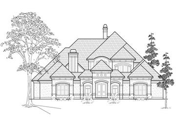 4-Bedroom, 5074 Sq Ft Luxury Home Plan - 134-1314 - Main Exterior