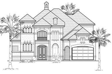 4-Bedroom, 5123 Sq Ft Mediterranean Home Plan - 134-1315 - Main Exterior
