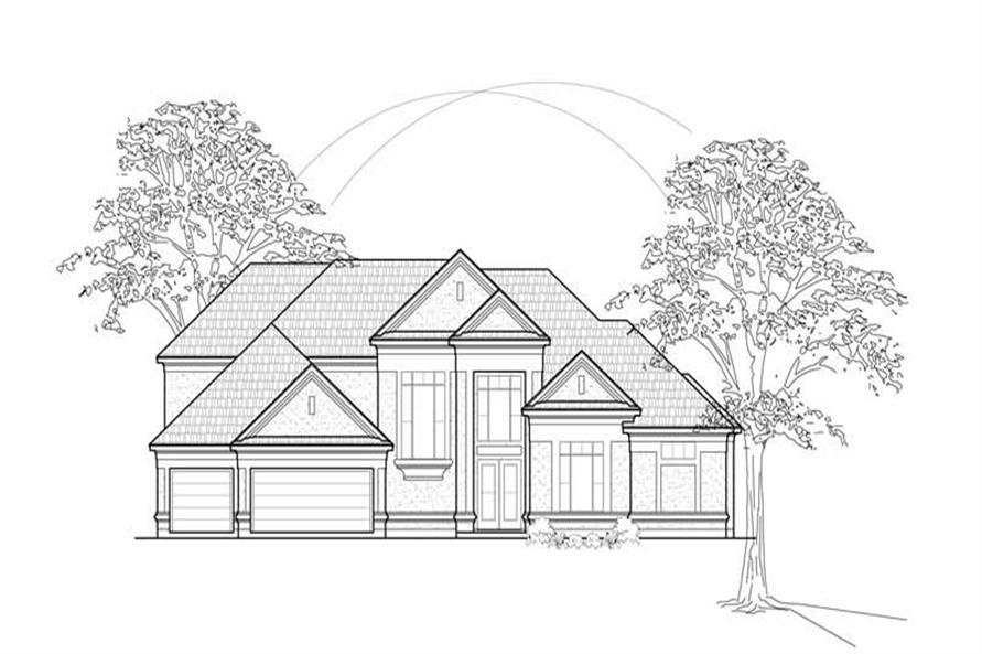 MAIN ELEVATION of this 4-Bedroom,4421 Sq Ft Plan -4421