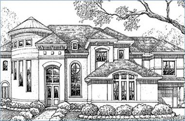 5-Bedroom, 5403 Sq Ft Luxury Home Plan - 134-1317 - Main Exterior