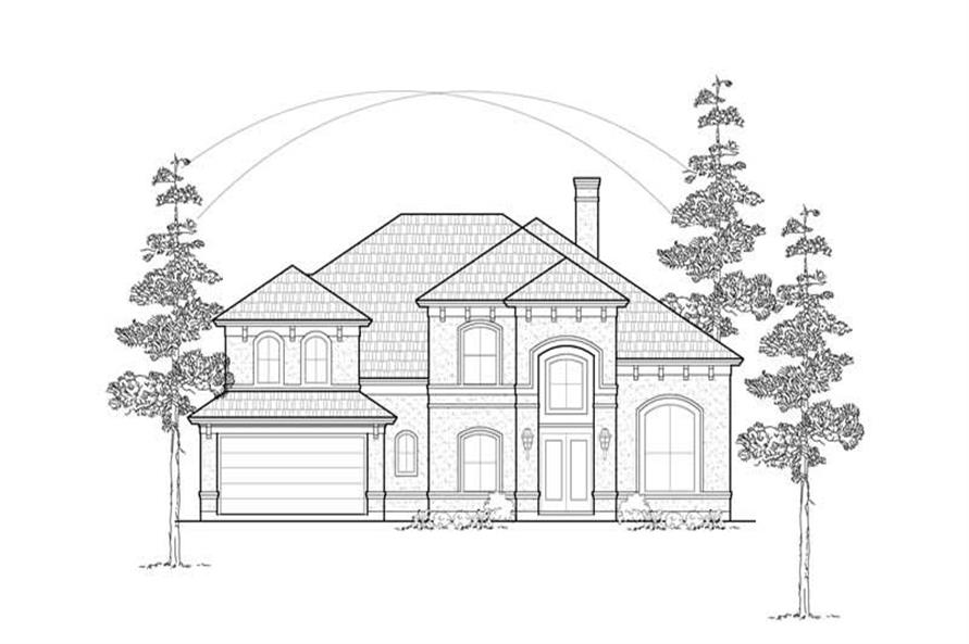 3-Bedroom, 3560 Sq Ft Luxury House Plan - 134-1318 - Front Exterior