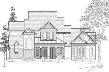 4-Bedroom, 4405 Sq Ft Country Home Plan - 134-1320 - Main Exterior
