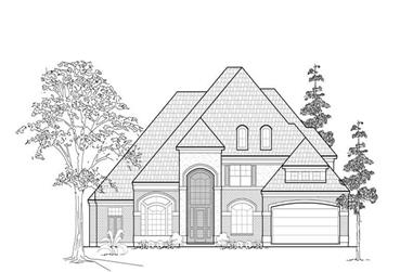 4-Bedroom, 4660 Sq Ft Luxury Home Plan - 134-1323 - Main Exterior