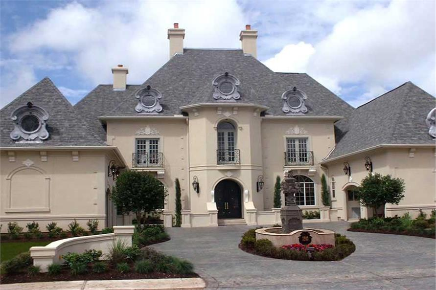 Luxurious Home In The European Style Of Architecture With Impressive Curb  Appeal.