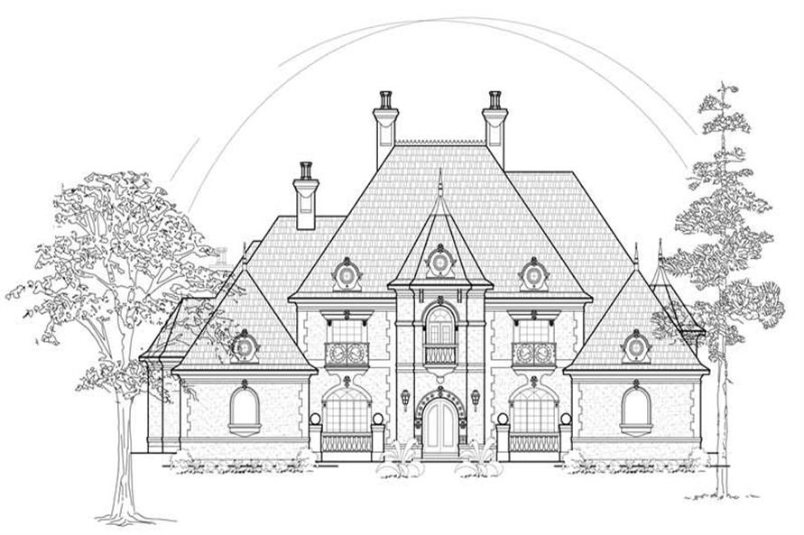 FRONT ELEVATION of this 4-Bedroom,4955 Sq Ft Plan -4955