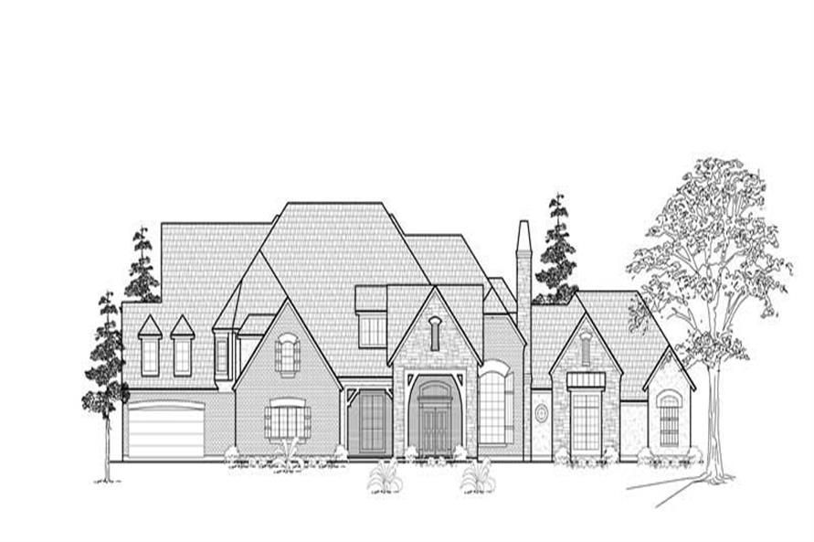 Home Plan Rendering of this 6-Bedroom,8011 Sq Ft Plan -134-1327
