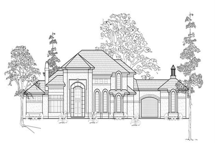 FRONT ELEVATION of this 5-Bedroom,6099 Sq Ft Plan -6099