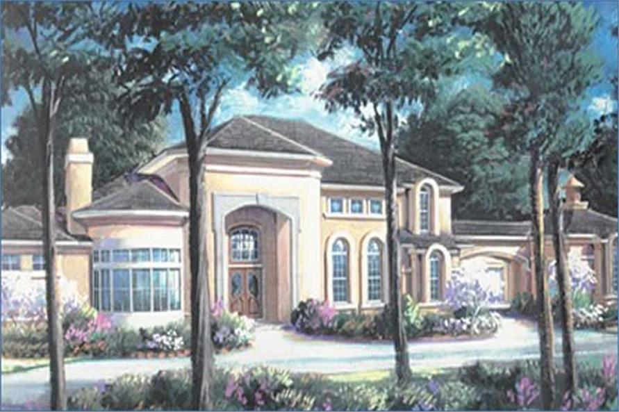 5-Bedroom, 6099 Sq Ft European House Plan - 134-1331 - Front Exterior
