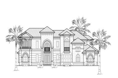 5-Bedroom, 6626 Sq Ft Luxury House Plan - 134-1332 - Front Exterior