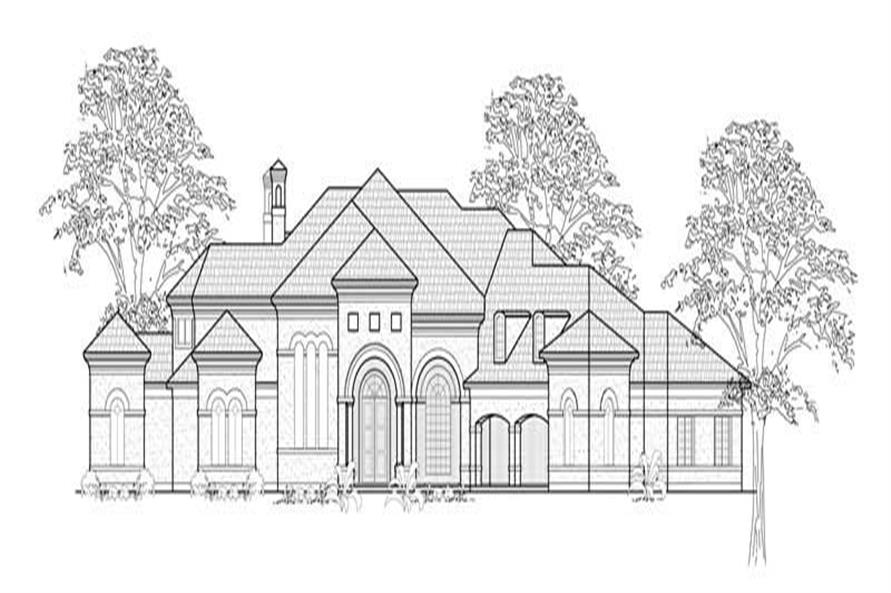 5-Bedroom, 7071 Sq Ft Luxury House Plan - 134-1333 - Front Exterior