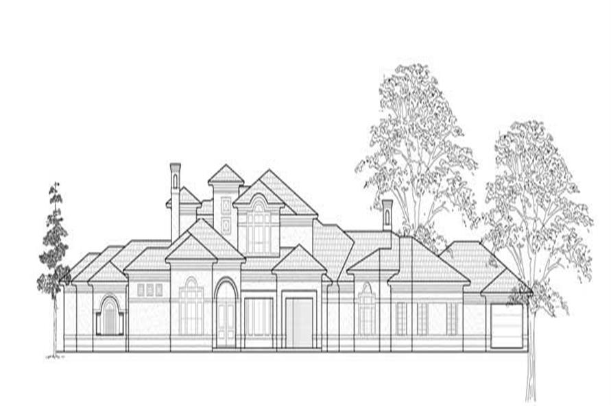 Home Plan Rendering of this 5-Bedroom,6457 Sq Ft Plan -134-1334
