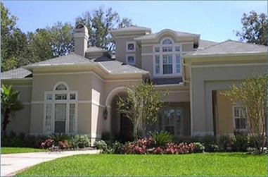 5-Bedroom, 6457 Sq Ft Luxury House Plan - 134-1334 - Front Exterior