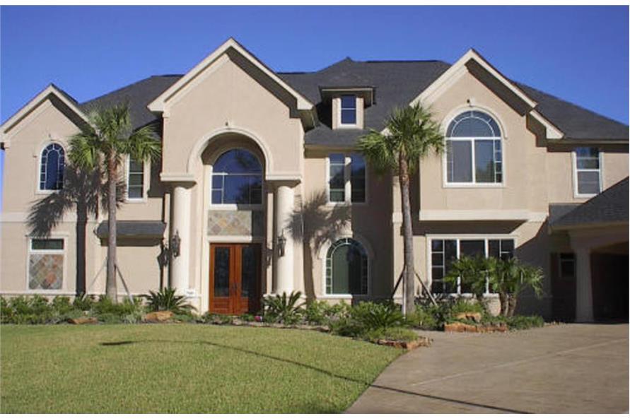 4-Bedroom, 4894 Sq Ft Luxury Home Plan - 134-1335 - Main Exterior