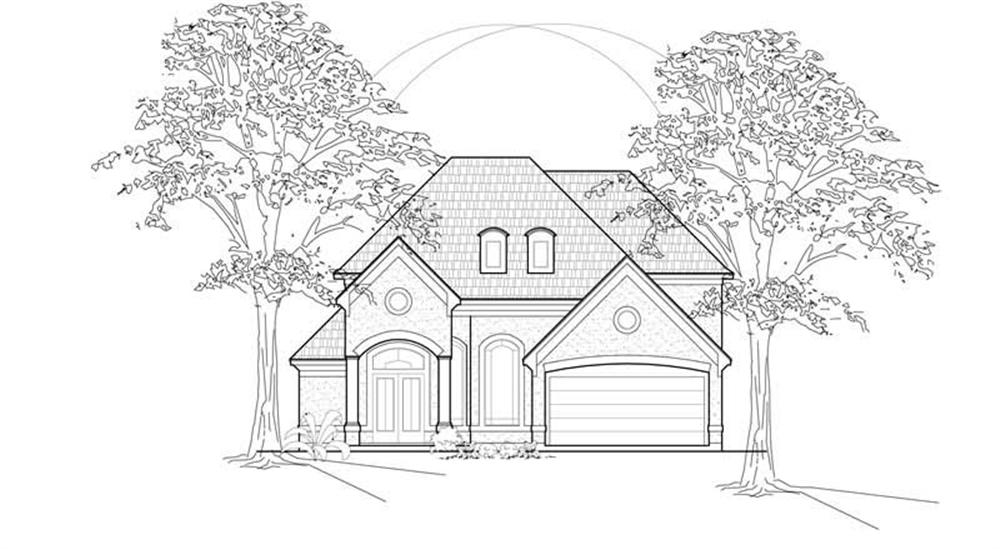 Luxury home (ThePlanCollection: Plan #134-1337)