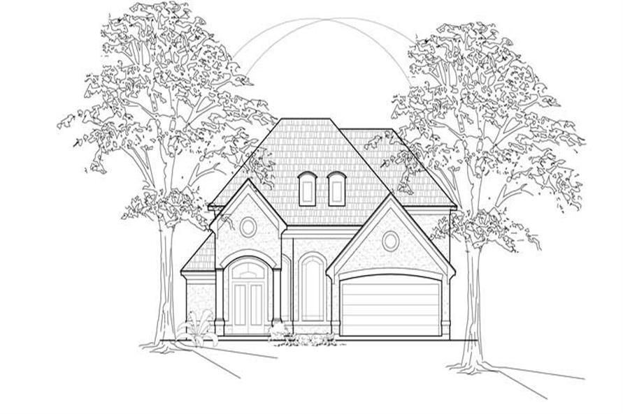 3-Bedroom, 3652 Sq Ft Luxury House Plan - 134-1337 - Front Exterior