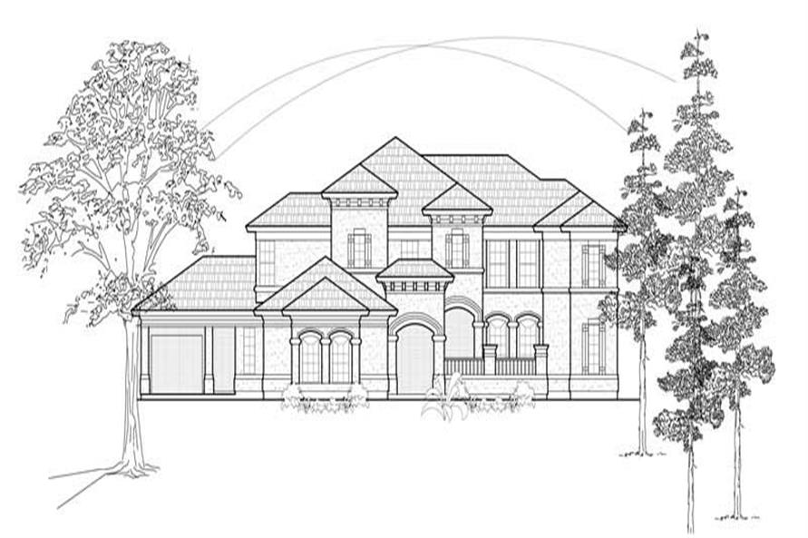 Home Plan Rendering of this 5-Bedroom,4434 Sq Ft Plan -134-1339