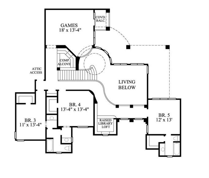 Spanish colonial house floor plans for Spanish style home floor plans