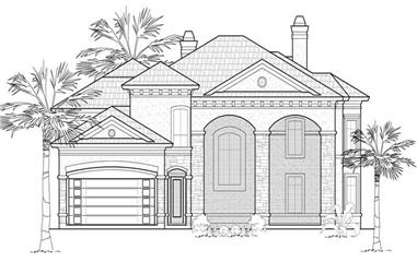 4-Bedroom, 4550 Sq Ft Mediterranean Home Plan - 134-1340 - Main Exterior