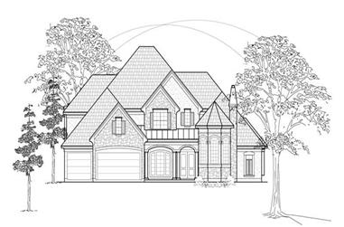 5-Bedroom, 4579 Sq Ft Luxury Home Plan - 134-1342 - Main Exterior