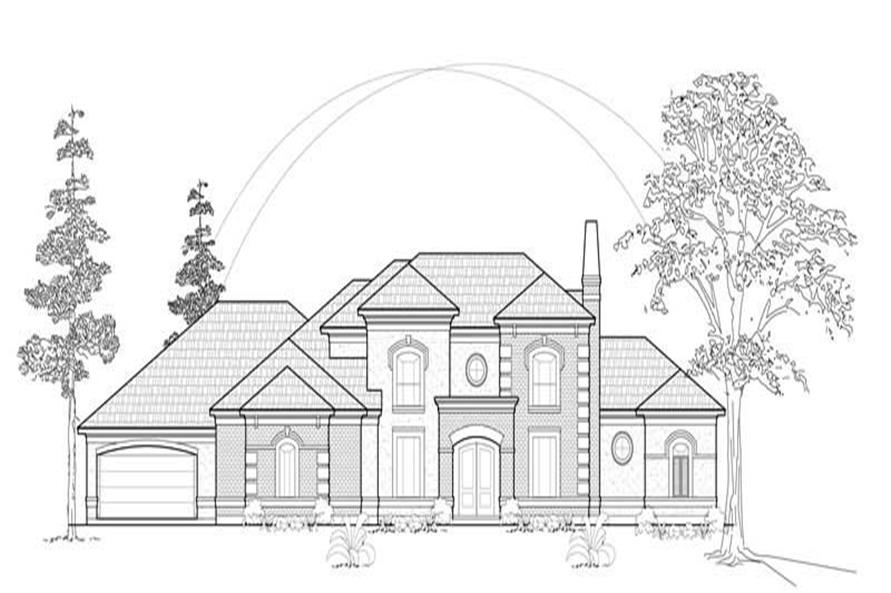 MAIN ELEVATION of this 4-Bedroom,4721 Sq Ft Plan -4721
