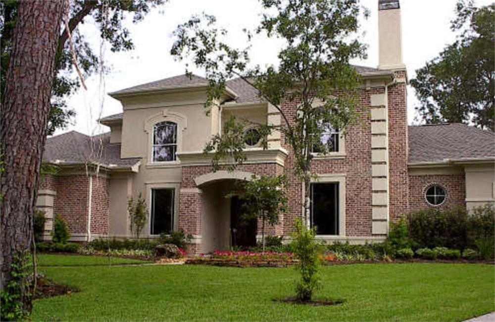 Photo of luxury home with Georgian influences.
