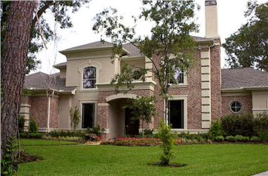 4-Bedroom, 4721 Sq Ft Luxury House Plan - 134-1343 - Front Exterior