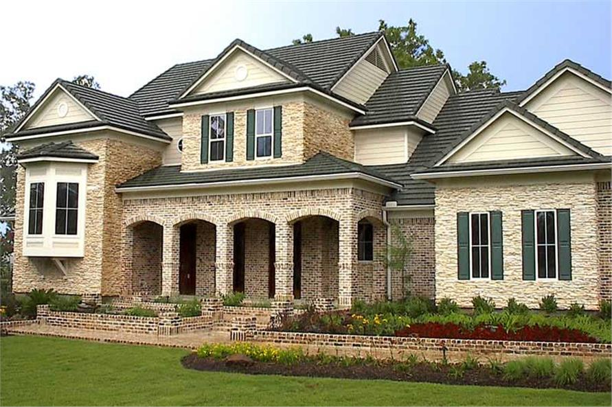 Home Exterior Photograph of this 4-Bedroom,4323 Sq Ft Plan -134-1344