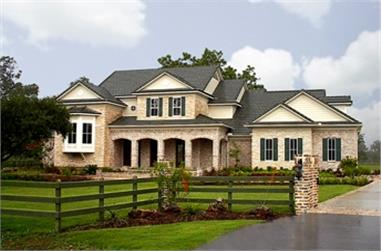 4-Bedroom, 4323 Sq Ft Farmhouse House Plan - 134-1344 - Front Exterior