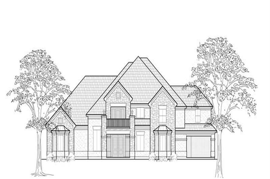 Home Plan Rendering of this 5-Bedroom,5139 Sq Ft Plan -134-1345