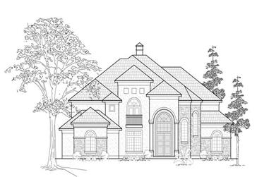 4-Bedroom, 5050 Sq Ft Luxury Home Plan - 134-1347 - Main Exterior