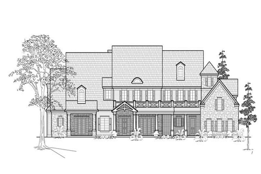 5-Bedroom, 5293 Sq Ft Farmhouse Home Plan - 134-1349 - Main Exterior