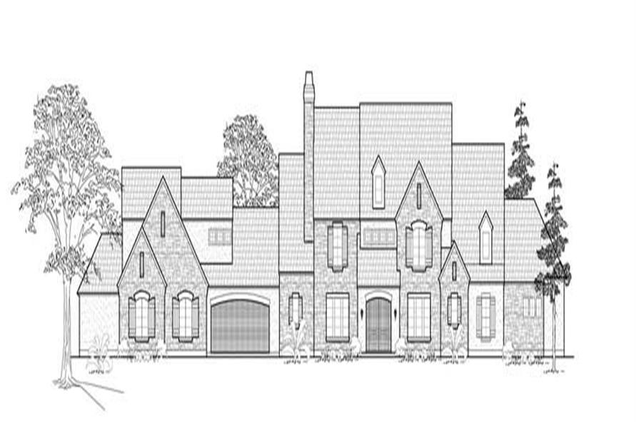 134-1351: Home Plan Front Elevation
