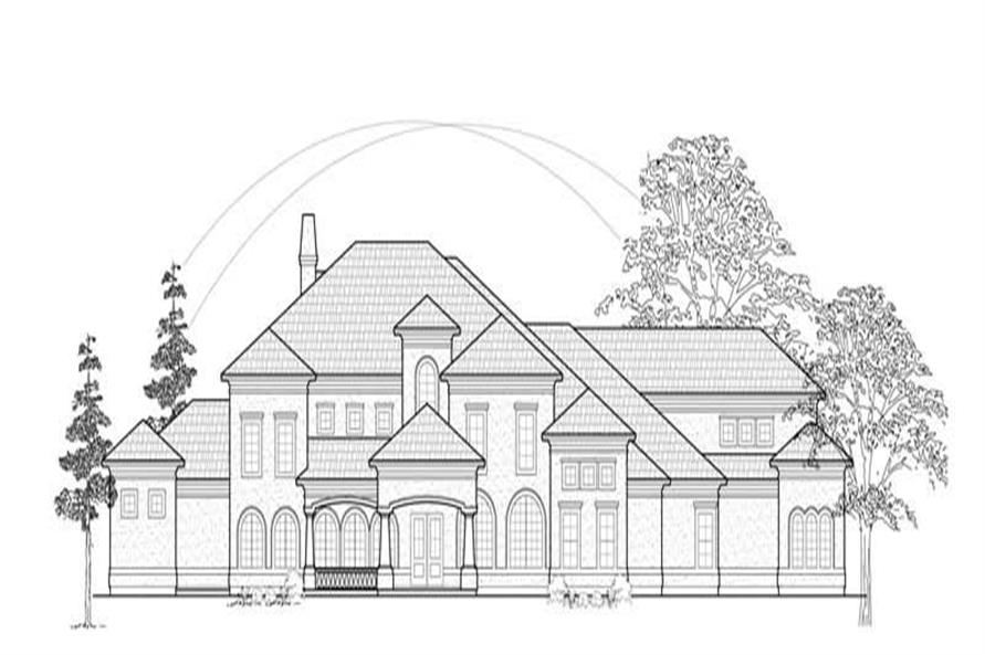 4-Bedroom, 5553 Sq Ft Luxury House Plan - 134-1352 - Front Exterior
