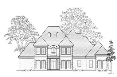 4-Bedroom, 4724 Sq Ft Luxury House Plan - 134-1354 - Front Exterior
