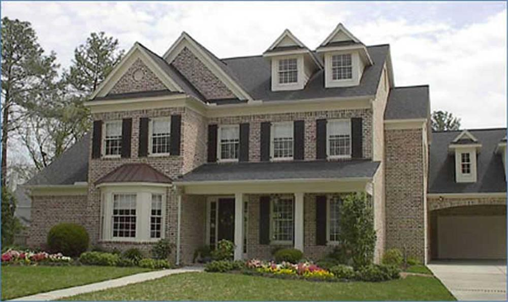 Main image for this 4 bedroom traditional house plan.
