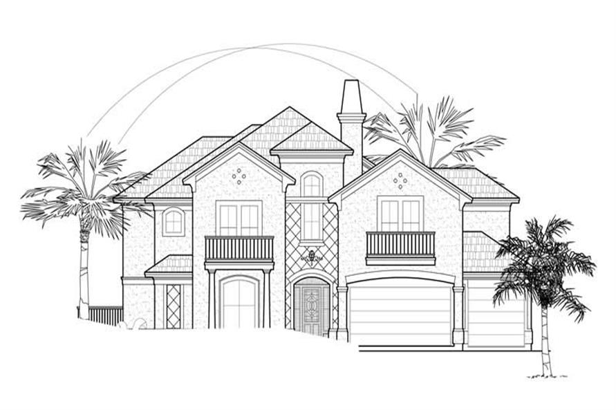 Main image for house plan # 8674